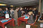 Conference materials were distributed   during registration